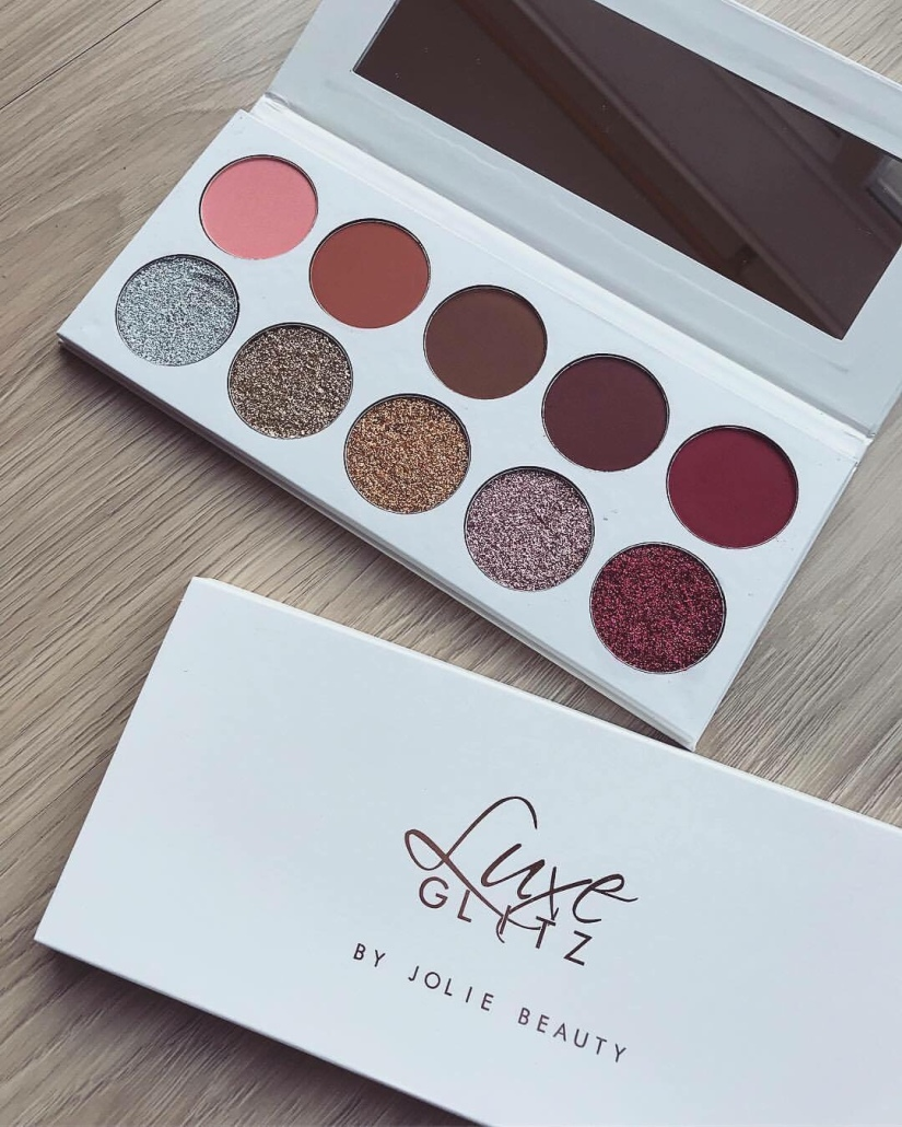 Jolie Beauty Luxe Glitz Palette : Review + Applied